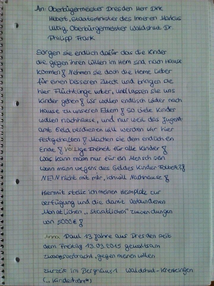 Brief An Gefangenen Vorlage