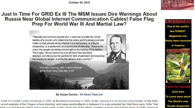 False Flag Russian Subs Cut Internet Cable
