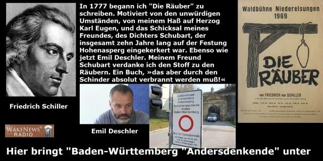 Friedrich Schiller und Emil Deschler Festung Hohenasperg und die Räuber