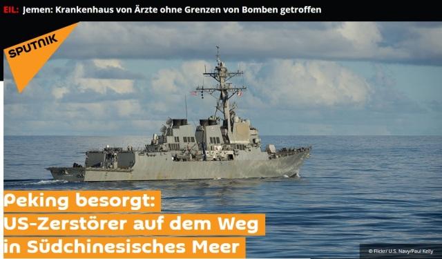 US-Regime schickt Zerstörer ins chinesische Meer