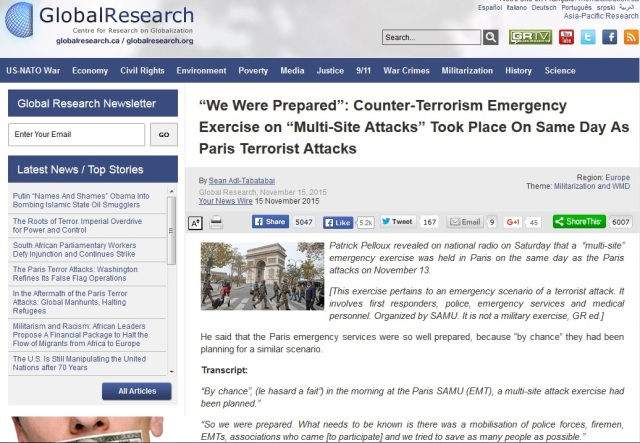 Counter-Terrorism Drills Took Place Paris Friday 13th, 2015