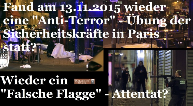 Falsche Flagge Terror-Attentat 13.11.2015 Paris