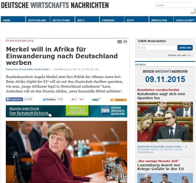 Merkel will in AFRIKA FÜR eINWANDERUNG NACH dEUTSCHLAND WERBEN