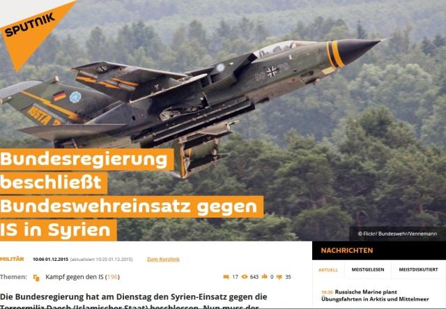 Bundeswehr zieht in den Krieg nach Syrien