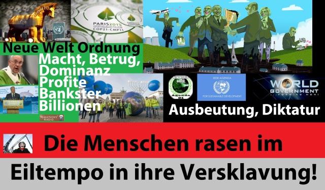 COP 21 - AGENDA 21 - 2030 - Ausbeutung - Neue Welt Ordnung