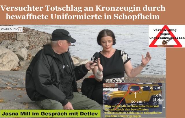 Versuchter Totschlag an Kronzeugin durch bewaffnete Uniformierte in Schopfheim