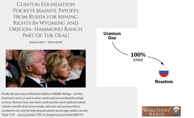 Clinton FoundationPockets Massive Payoffs From Russia For Mining