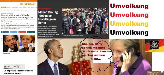 Obama telefoniert mit Merkel wegen syrischer Flüchtlingskrise