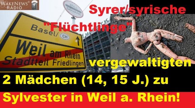 Syrer vergewaltigen 2 Mädchen in Weil am Rhein
