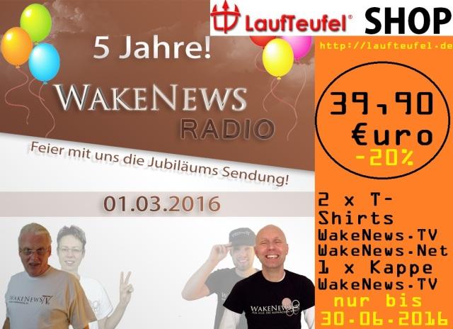 5-Jahre Jubiläumsangebot Laufteufel bis 30.06.2016