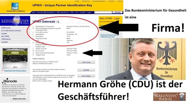 BMG Berlin ist eine Firma - Hermann Gröhe ist der Geschäftsführer