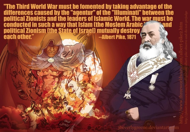 Albert Pike Quote — World War Three