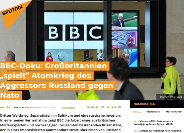 BBC - UK spielt Atomkrieg mit Russland durch