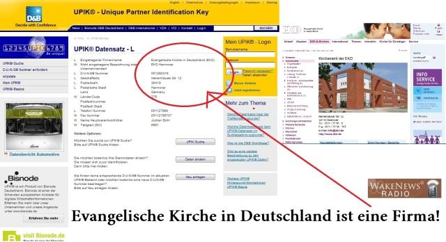Evangelische Kirche in Deutschland ist eine Firma