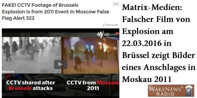 Falscher Film Brüssel