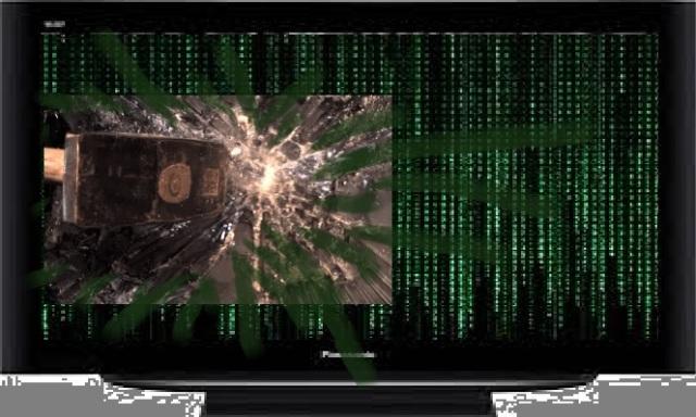 Matrix-Fernseher Hammerschlag