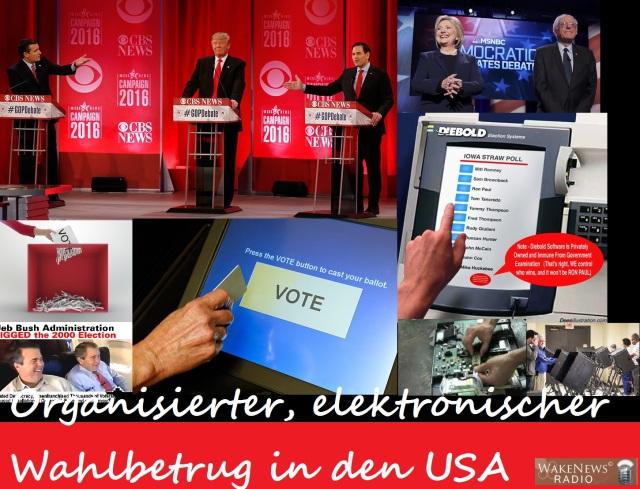 Organisierter, elektronischer Wahlbetrug in den USA