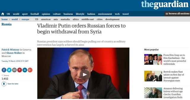 Russia Withdraws From Syria