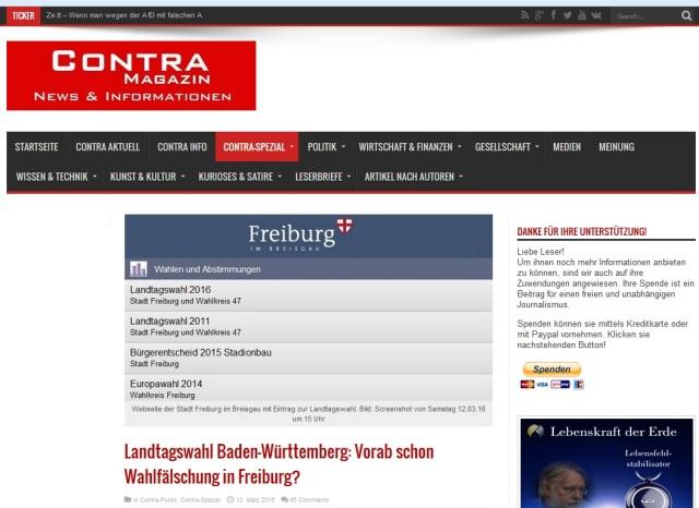 Wahlfälschung Freiburg