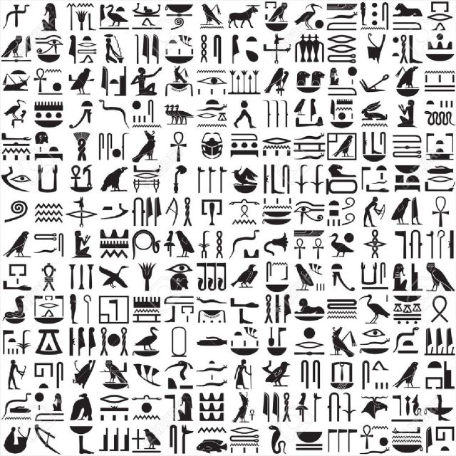 9532981-Ancient-Egyptian-hieroglyphs-Stock-Vector-egyptian-egypt-hieroglyphics