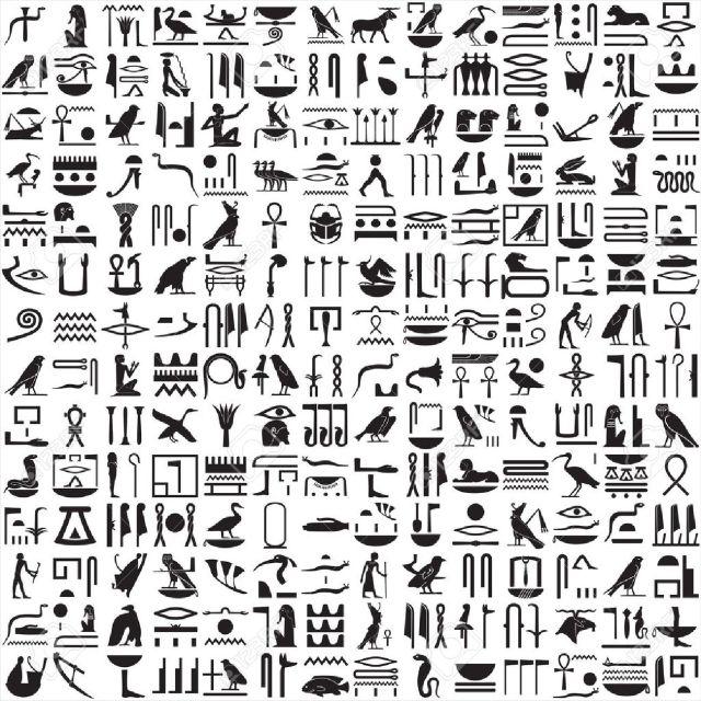 9532981-Ancient-Egyptian-hieroglyphs-Stock-Vector-egyptian-egypt-hieroglyphics