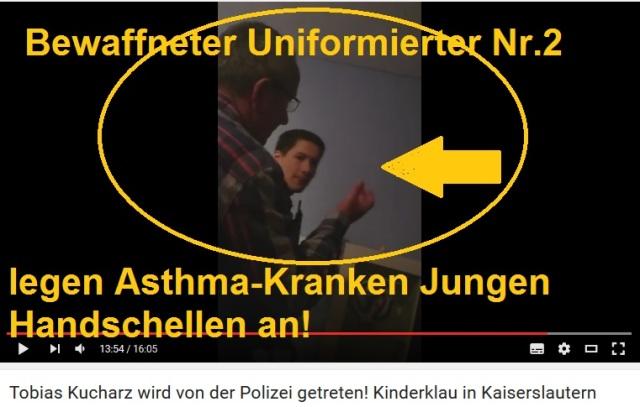 Brutaler Schläger -bewaffneter Uniformierter in Kaiserslautern 2