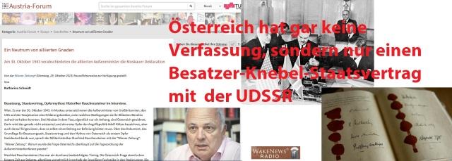 Österreich hat gar keine Verfassung nur Knebel-Staatsvertrag mit Besatzer UDSSR