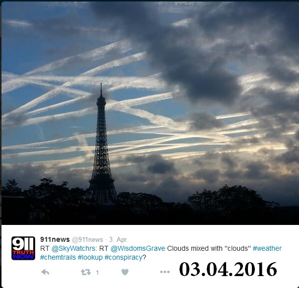 Chemtrail Paris 20160403