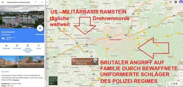 Kaiserslautern - Ramstein Tägliche Drohnenmorde + POLIZEI-Kinder-Schläger