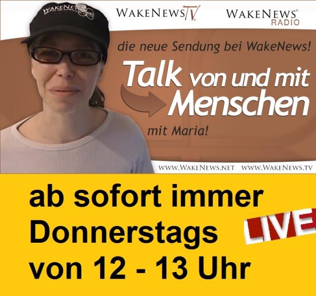 Maria Talk von und mit Menschen immer Donnerstag 12-13 h LIVE