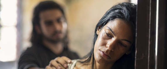 domestic violence with young man and abused woman