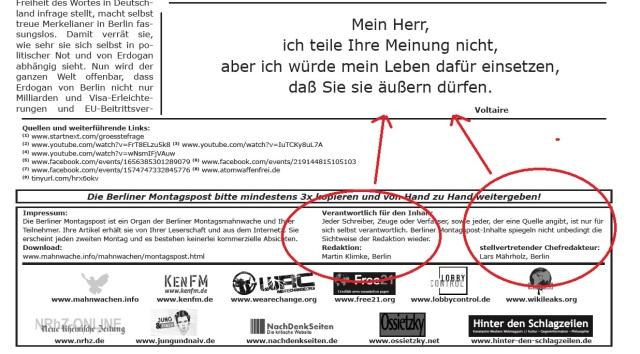 Redaktion Berliner Montagspost Mark
