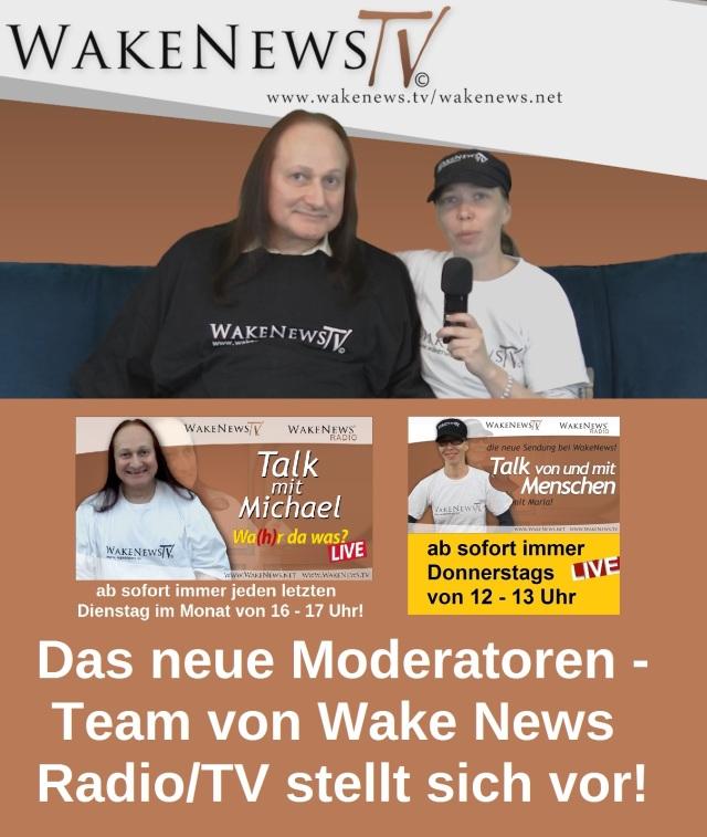 Das neue Moderatoren-Team bei Wake News Radio TV stellt sich vor