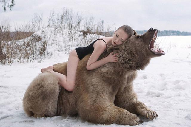fuer-ein-shooting-der-fotografin-olga-barantseva-posierten-zwei-russische-models-mit-einem-650-kilogramm-schweren-braunbaeren-namens-stephen-