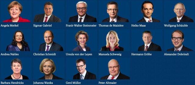 Kabinett-Regierung-Merkel-Bundeskabinett-2016-Kanzlerin-und-Minister-Ressorts-Ministerien-Fahndung-Foto-kriminelle-Vereinigung