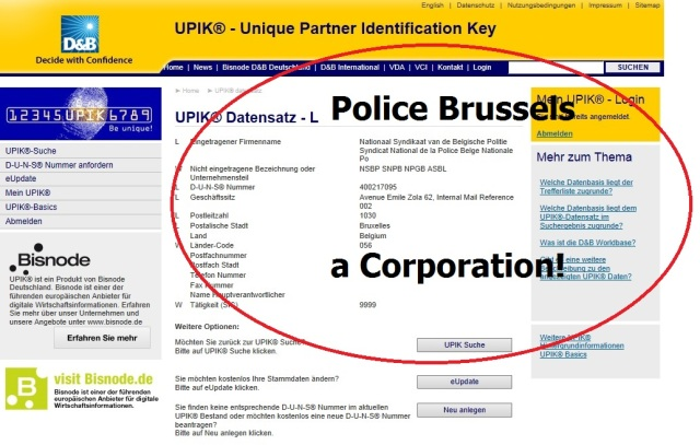 Police Brussels A Corporation