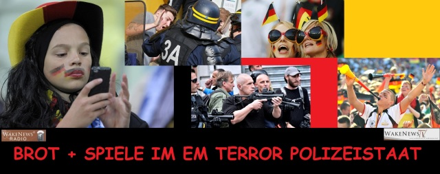 BROT + SPIELE IM EM TERROR POLIZEISTAAT
