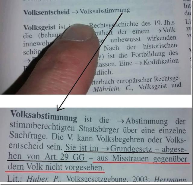Volksabstimmung ist Deutschen nicht gestattet