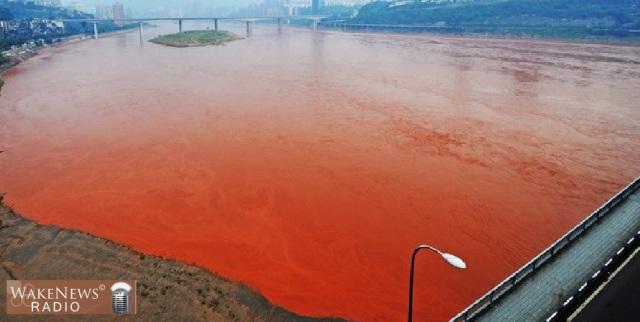Blutrotes Gewässer