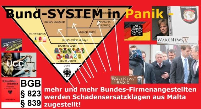 Bund-SYSTEM in Panik - Schadensersatzanforderungen aus Malta