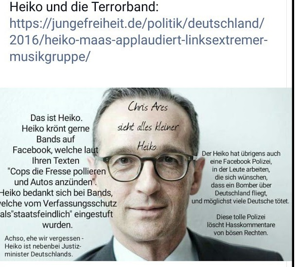 Heiko Maas unterstützt linke Terrorgruppen