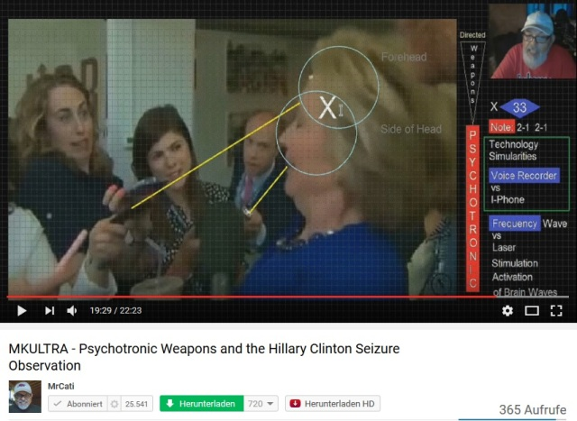 Hillary Clinton Psychotronische Waffen