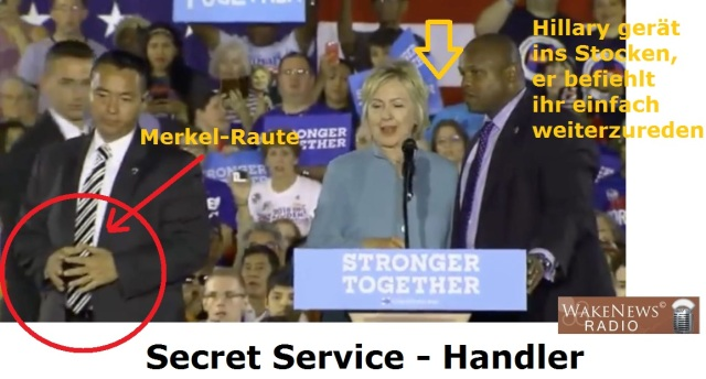 Hillary Clinton Under Mindcontrol mit Mark