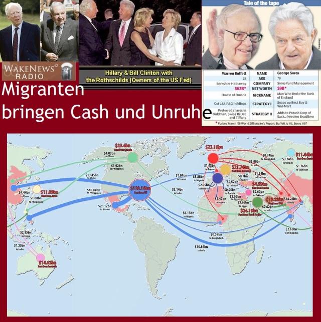 Migranten bringen Cash und Unruhe