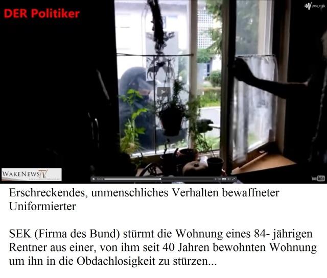SEK stürmt Wohnung eines 84-jährigen Rentners