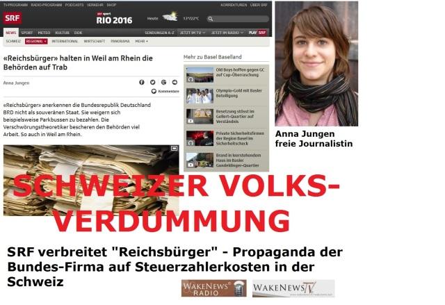 SFR verbreitet Reichsbürger - Propaganda der Bundes-Firma auf Steuerzahlerkosten in der Schweiz