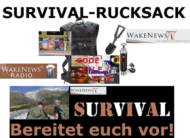 Wake News SURVIVAL Rucksack
