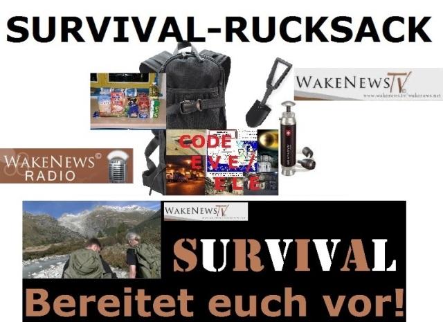 Wake News SURVIVAL Rucksack