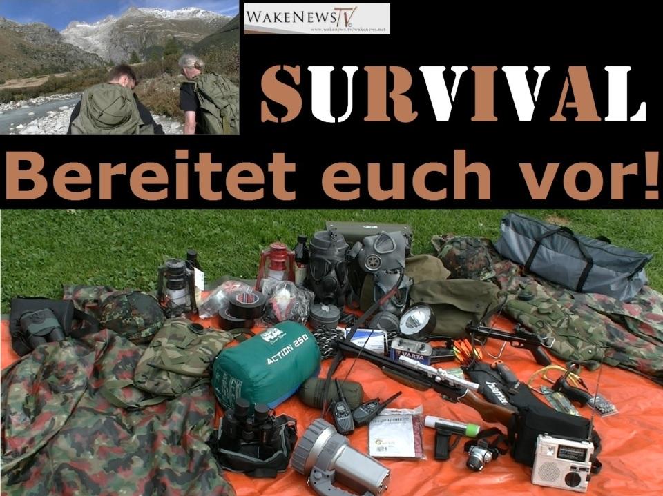 WN Survival Logo mit Utensilien