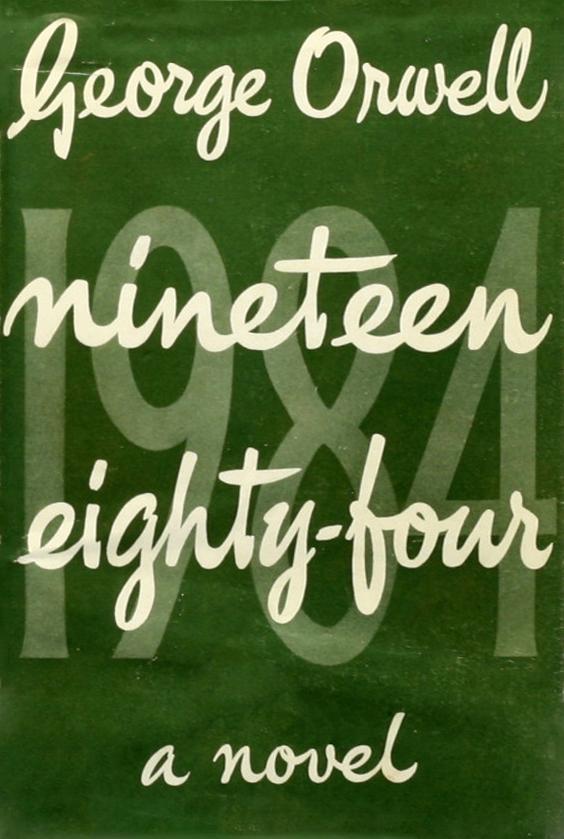 1984_frontcover_der_erstausgabe_von_1949